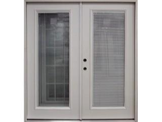 Fiberglass Double Door Unit Mini Blind